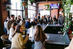 people drinking at bar