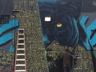 Brickyard Panthers Mural