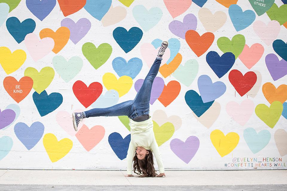 Confetti Hearts Wall