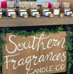 Souther Fragrances Candle Co display