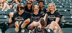 Group of girls at ballpark
