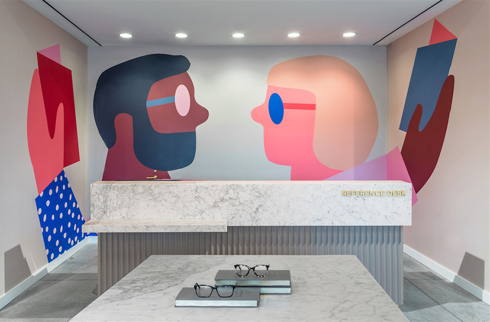 Warby Parker Wall Illustration