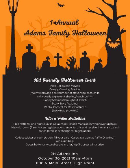 1st Annual Adams Family Halloween - JH Adams Inn