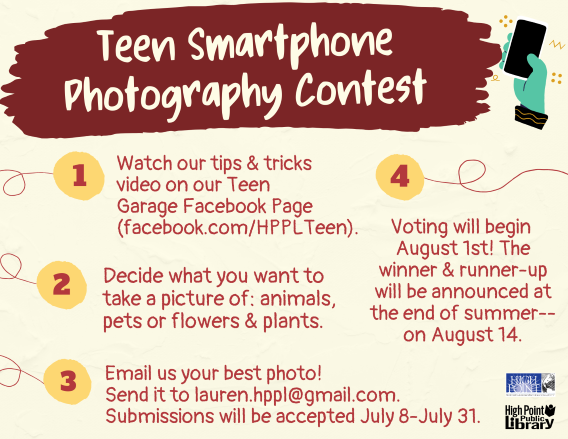 Teen Smartphone Photography Contest - Library Sponsored