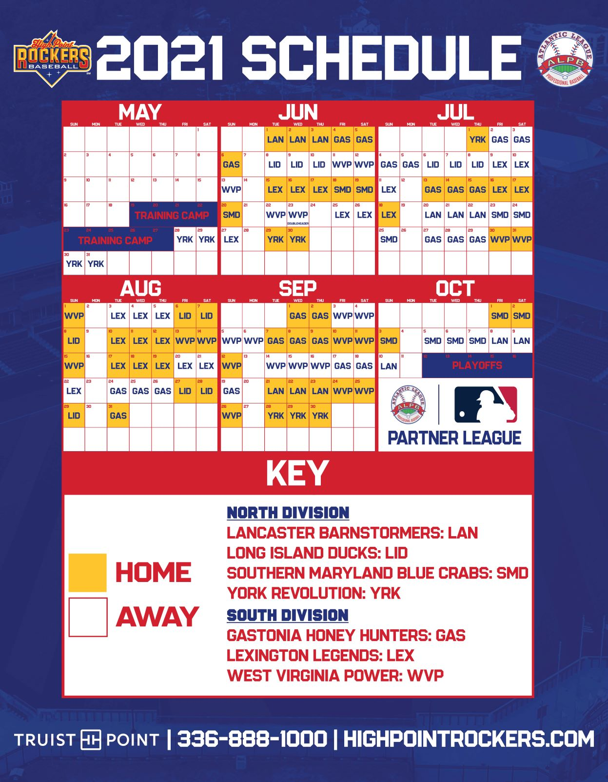 PLAY BALL - High Point Rockers announce 2021 Baseball Season at Truist Point