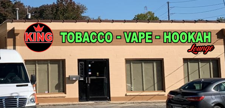 Outside of King Tobacco Vape Hookah