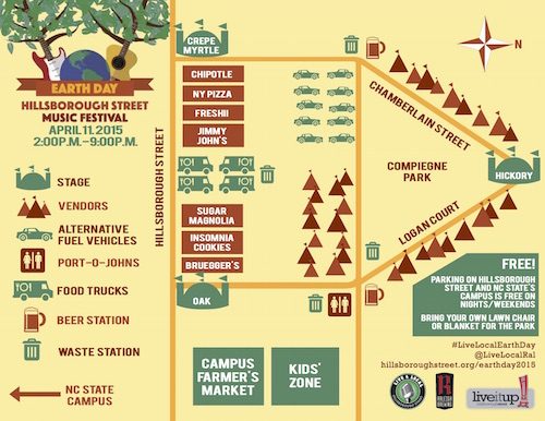 Live & Local Earth Day 2015 Event Map