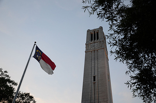 The Memorial Belltower at NC State University