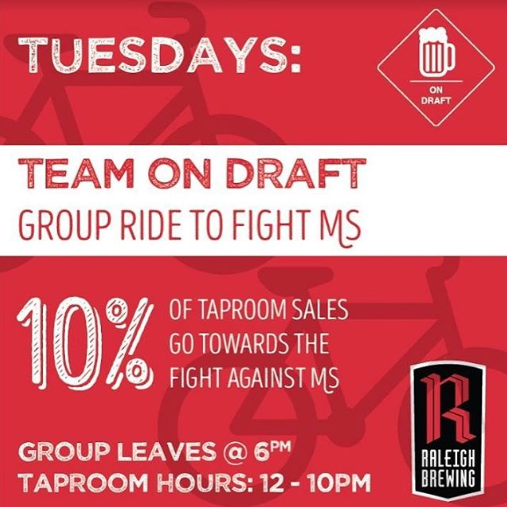 Raleigh Brewing Company Group Ride to Fight MS