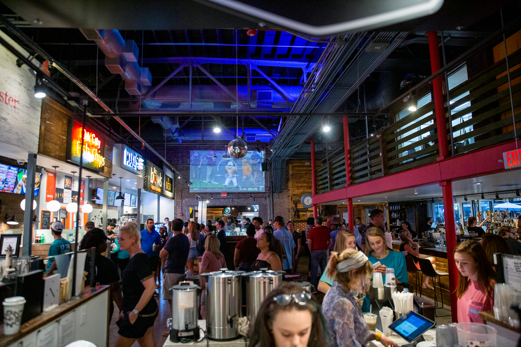Inside Morgan Street Food Hall