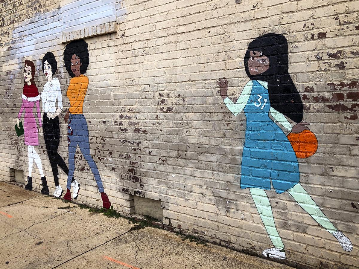 No Damsel art outside CAM Raleigh
