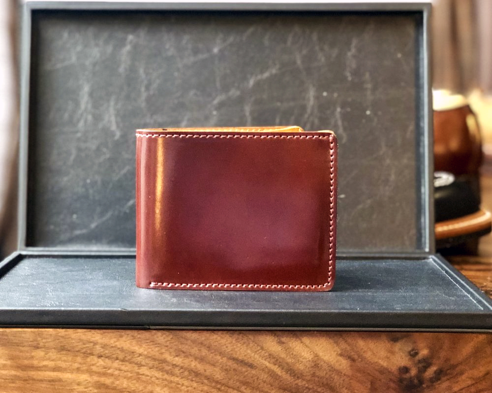 Brown leather wallet from Ealdwine