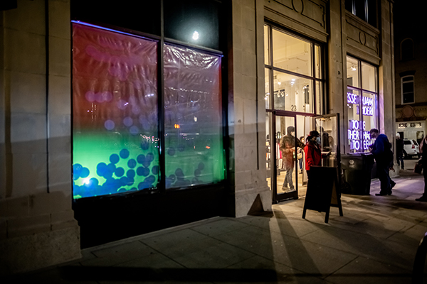 Lighted storefront