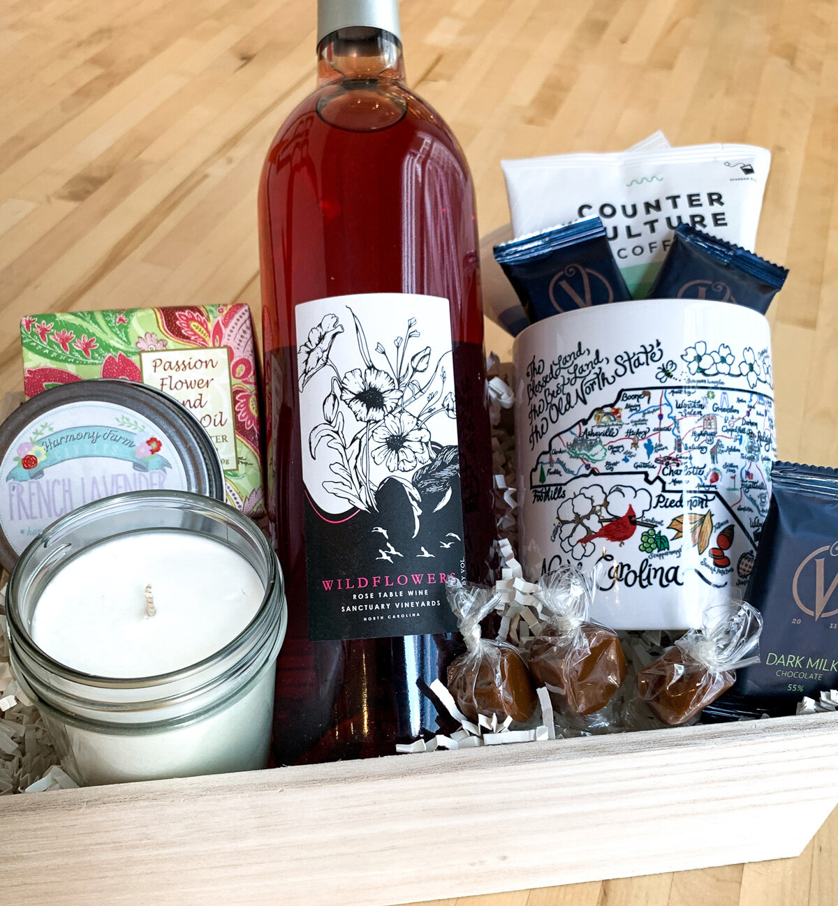 Raleigh Provisions mother's day gift basket