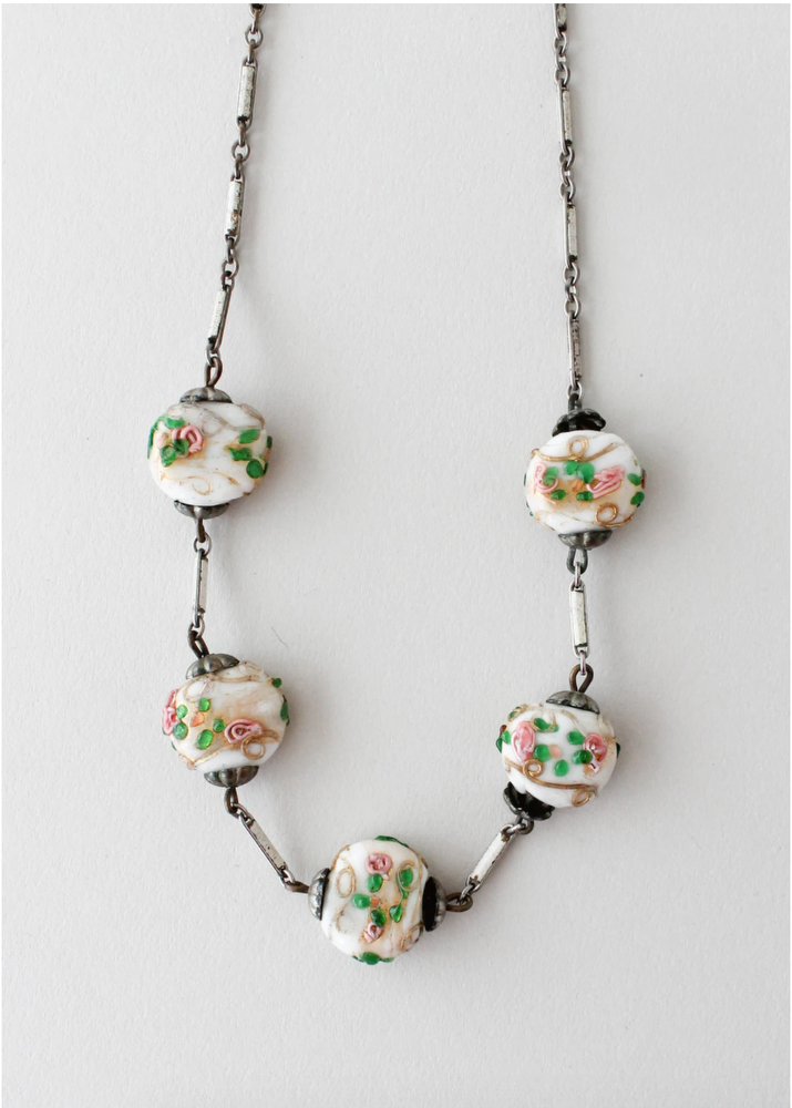 Raleigh Vintage hand-painted necklace