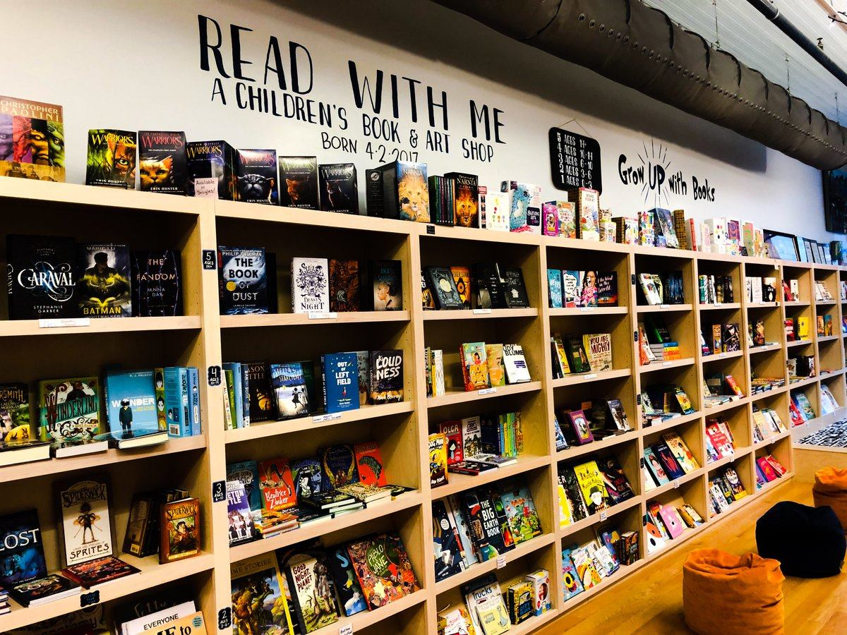 Read With Me bookshop book wall