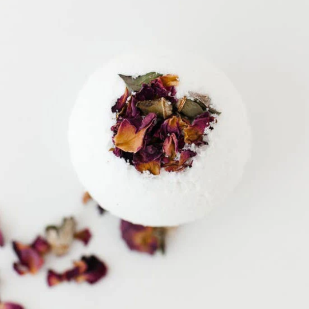 floral bath bomb from RENEW