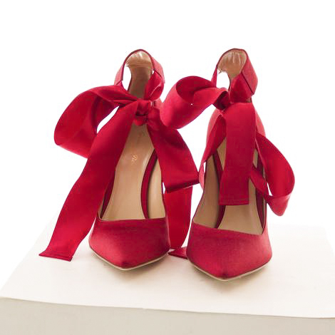 Red high heeled shoes from Revolver
