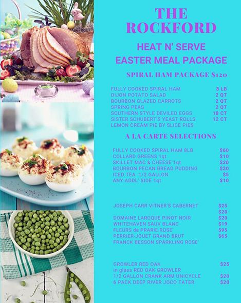 The rockford easter menu