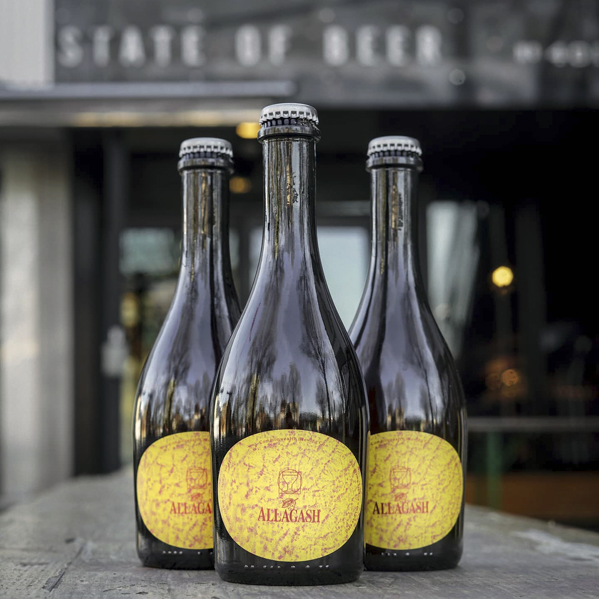 Saison beer bottles at State of Beer