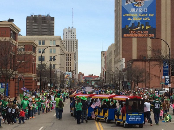 St Patrick S Day Parade Events Downtown Akron Oh