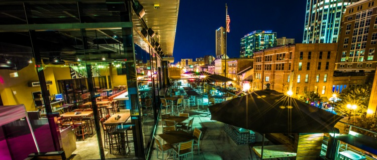 One Of Nashvilleu0027s Original Downtown Rooftop Patios, Rock Bottom Brewery Is  Hard To Beat On A Beautiful Spring Day. Boasting Great Views Of Broadway  And The ...