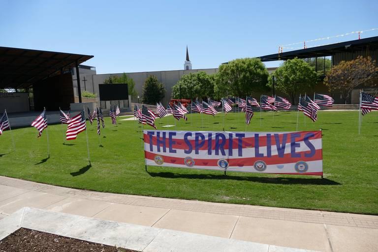 Flags at the Levitt