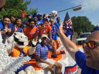 UTA parade float Seth Ressl