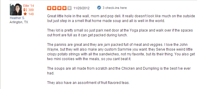 soup review tin cup