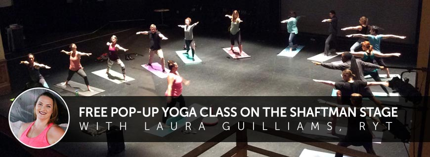 Free Pop Up Yoga Class on the Stage