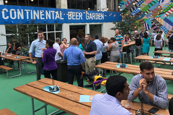 Continental Beer Garden Happy Hour 600 x 400