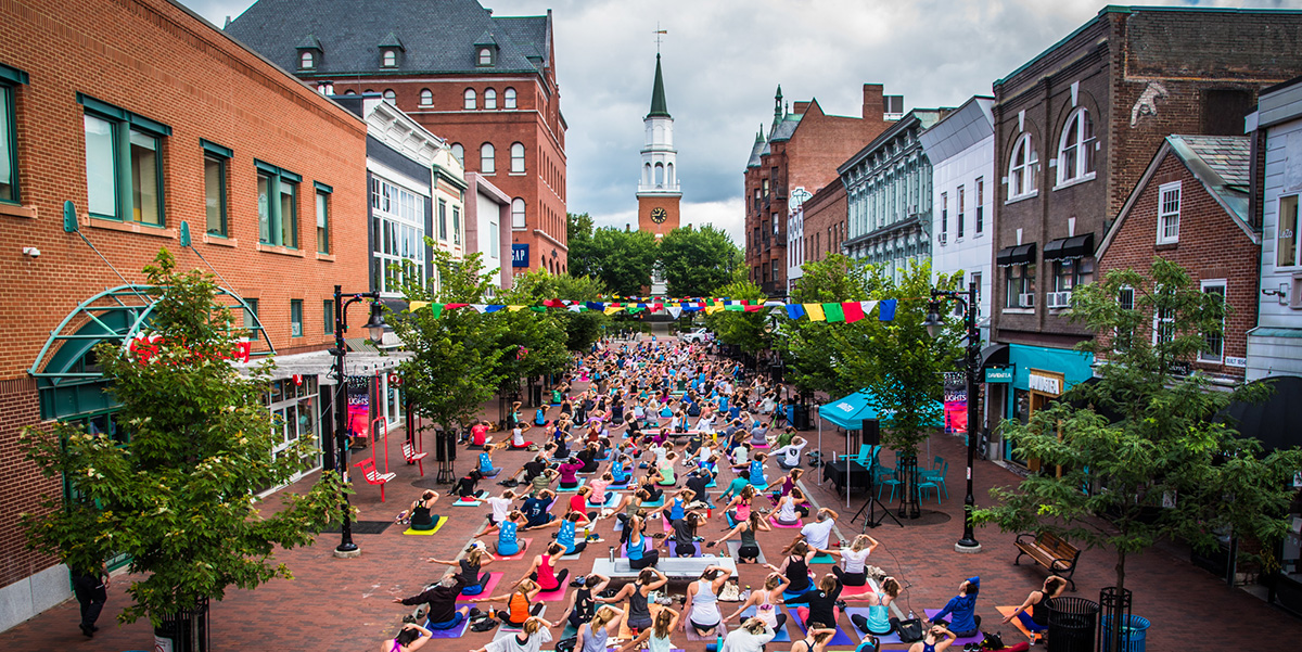 Church Street Marketplace Burlington Vermont