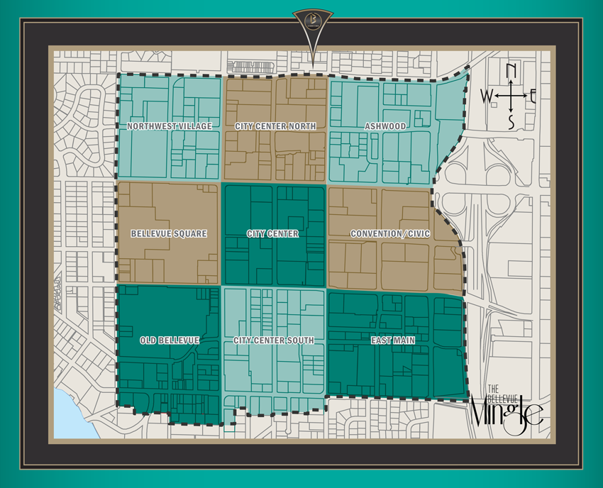 Downtown Map | Downtown Bellevue, WA on bellevue washington zip code map, city of bellevue ohio map, bellevue mall map, bellevue collection map, the shops at willow bend map, southcenter mall map, boeing bellevue map, totem lake mall map, glenbrook square map, washington square map, town square store map, bellevue ia map, bellevue college map, the space needle map, bellevue place map, bellevue transit center map, south bellevue map, overlake hospital medical center map, assembly square map, bellevue wa map,