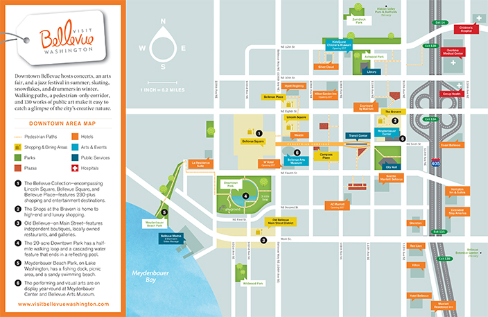 Maps About Downtown Bellevue Wa