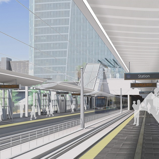 East Link Bellevue Downtown Station