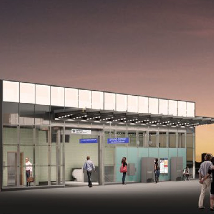 East Link Spring District/ 120th Station
