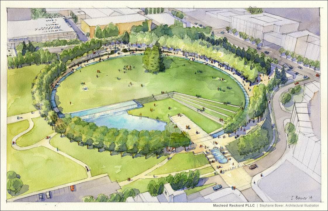 план парка картинки контрастный цвет